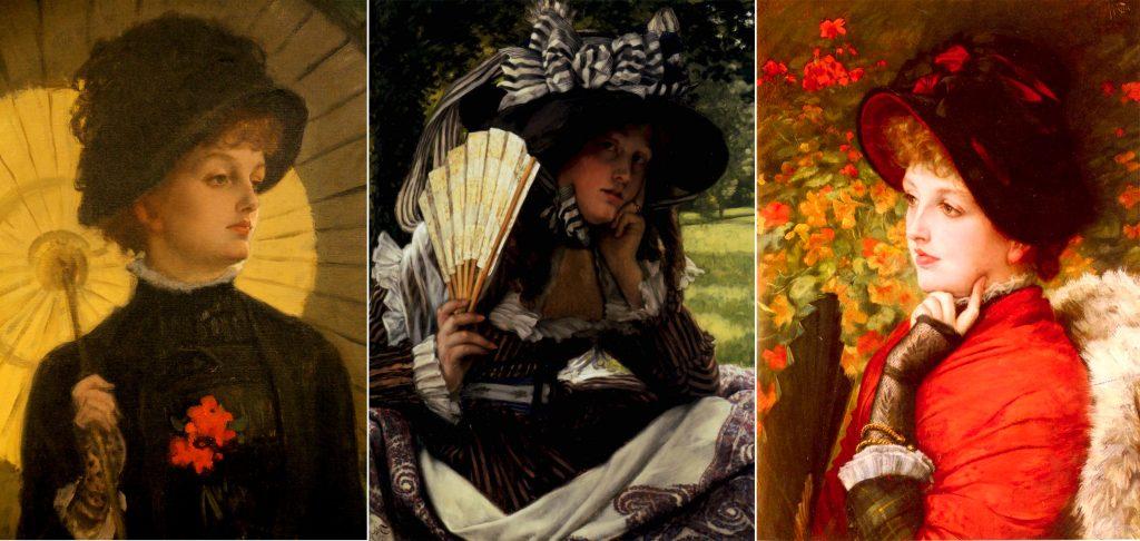 James Tissot. Damas victorianas al aire libre