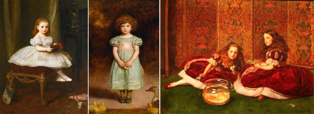 Retratos de niñas de época victoriana, John Everett Millais