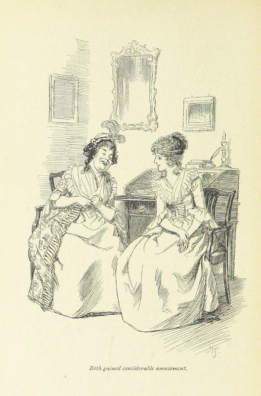 Ilustración de Sentido y Sensibilidad, una de las obras de Jane Austen.