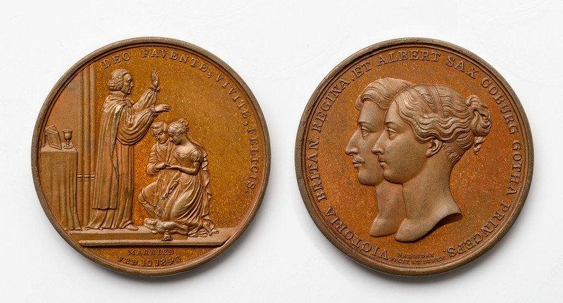 Medalla conmemorativa de la boda de la reina Victoria