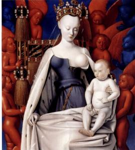 Jean Fouquet, Vierge entourée de séraphins et de chérubins