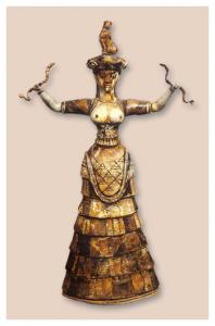 Diosa de las serpientes.