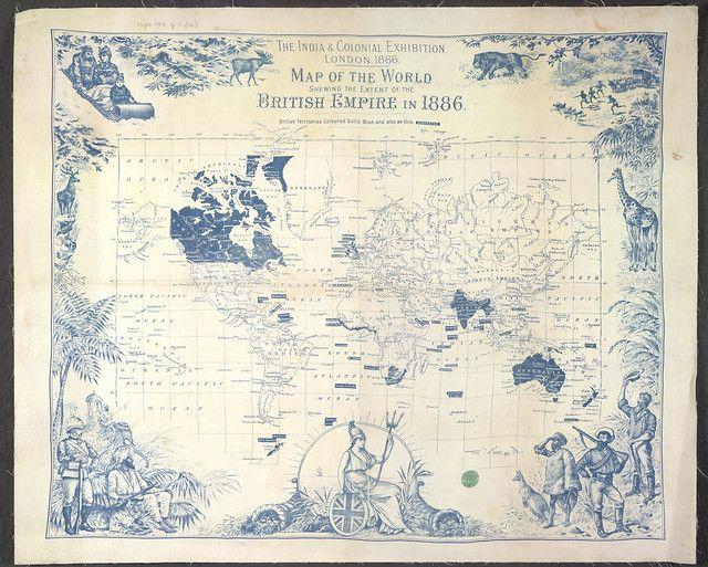 Mapa del Imperio Británico en la época victoriana