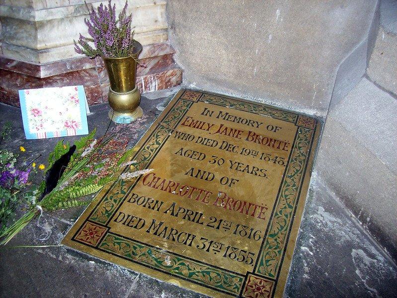 Placa memorial de Charlotte Bronte